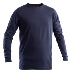 t shirt manica lunga ignifuga blu