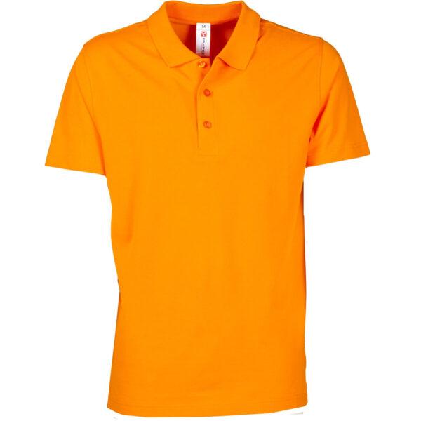 polo uomo 3 bottoni arancio