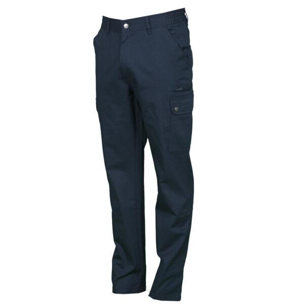 Pantalone uomo multitasche blu navy