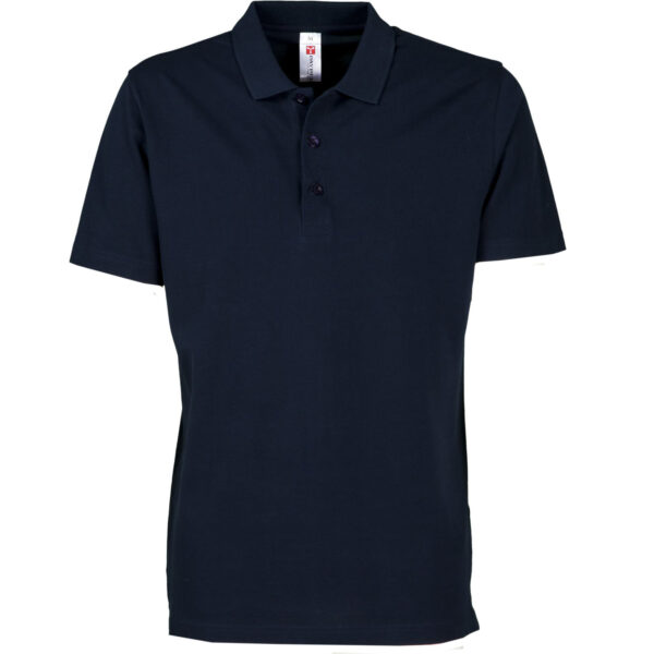 polo uomo 3 bottoni blu navy