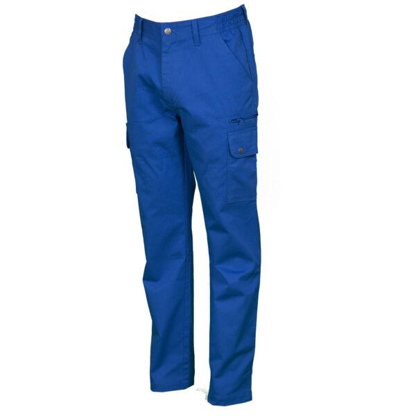 Pantalone uomo multitasche blu royal