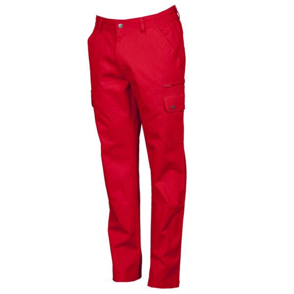 Pantalone uomo multitasche rosso