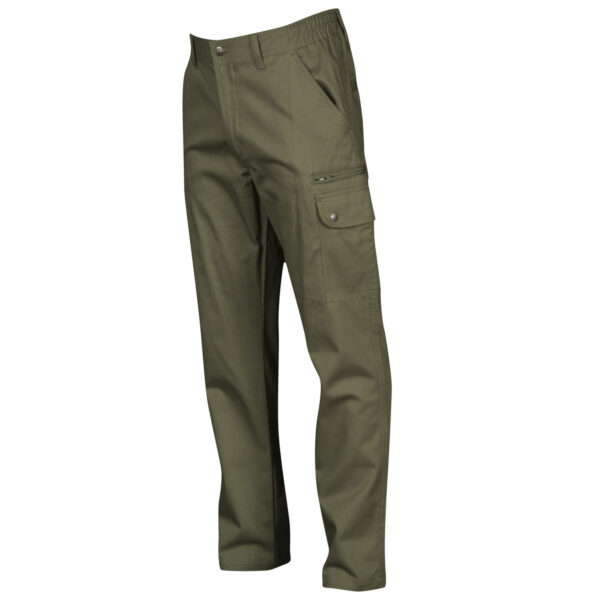 Pantalone uomo multitasche verde militare