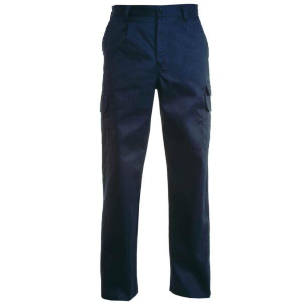 pantalone multitasche blu navy