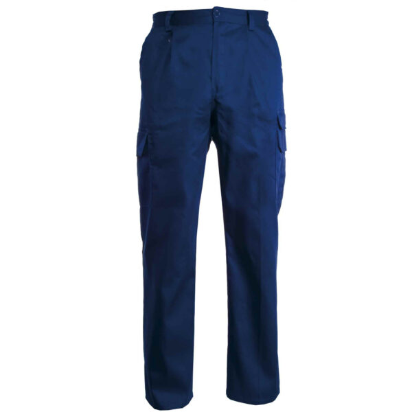 pantalone multitasche blu royal