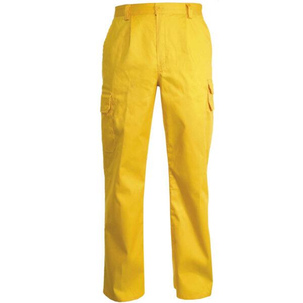 pantalone multitasche giallo