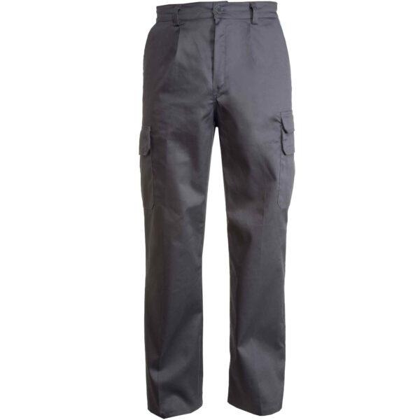 pantalone multitasche grigio