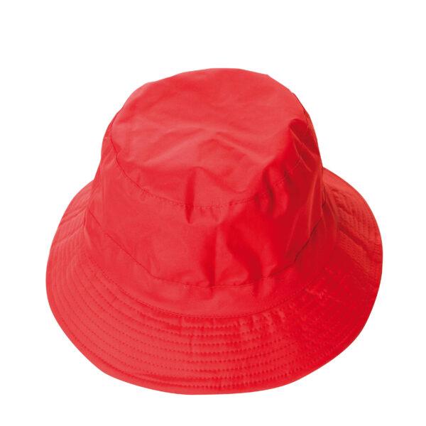 cappello pescatore nylon rosso