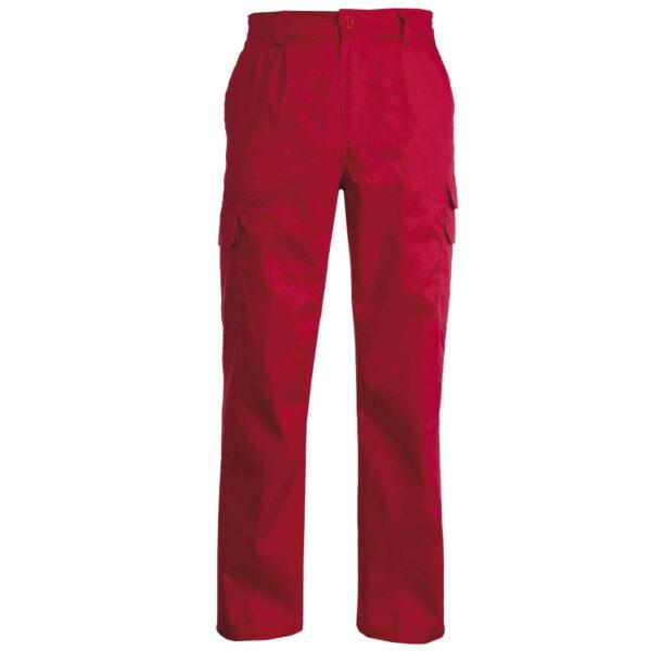 pantalone multitasche rosso
