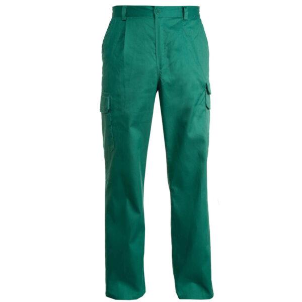 pantalone multitasche verde