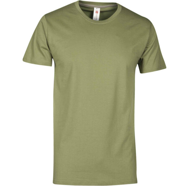 T shirt manica corta verde army