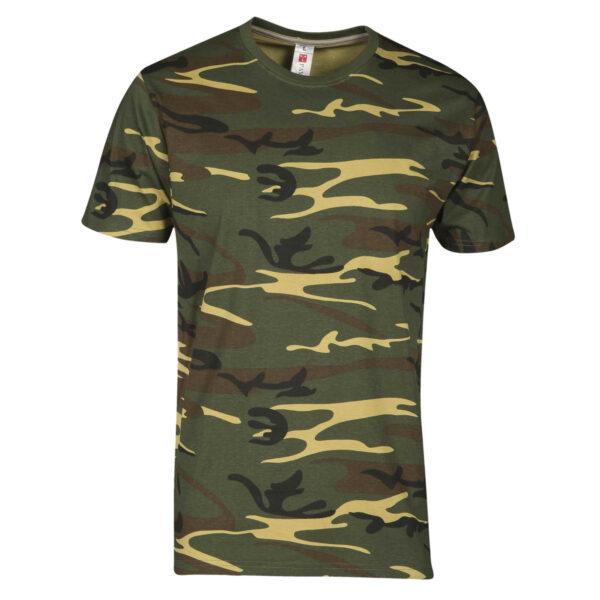 T shirt manica corta verde militare