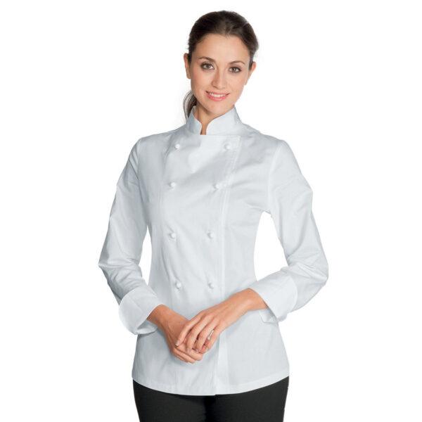 giacca-lady-chef-bianco manica lunga