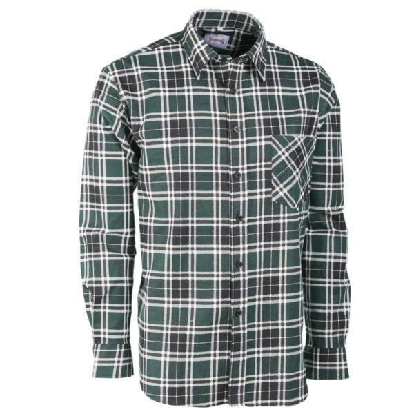 camicia flanella scozzese verde