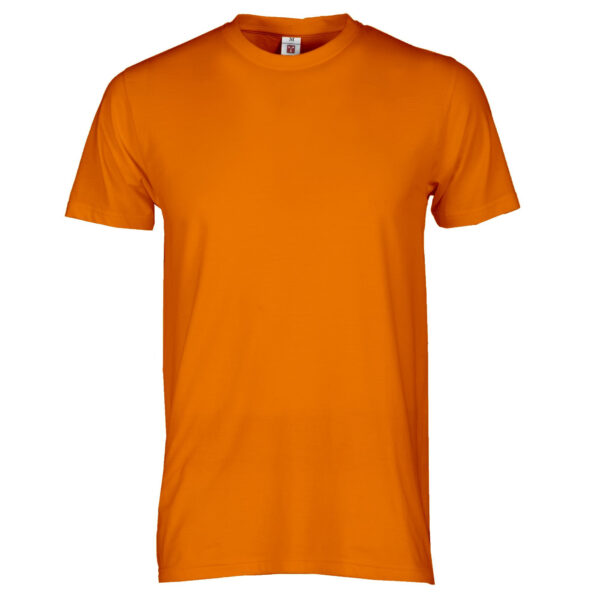 T Shirt arancio manica corta