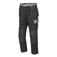pantalone policotone nero inserti grigi