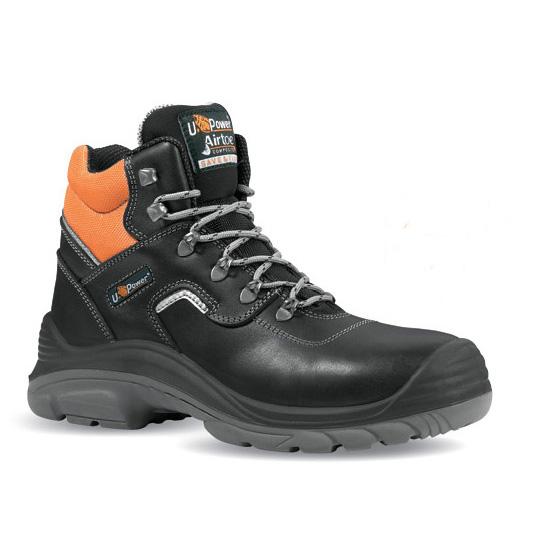 Scarpa alta S3 SRC nero e arancio