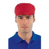 cappello rosso con visiera