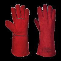 guanti da saldatore rosso