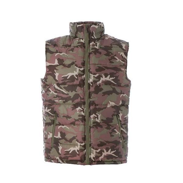 gilet imbottito uomo camouflage