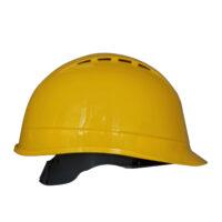 Elmetto giallo ventilato 8 fori