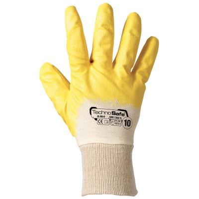 guanti-da-lavoro-NBR Giallo con polsino