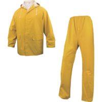 completo pioggia giacca pantalone giallo