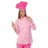 giacca-lady-chef- rosa manica lunga